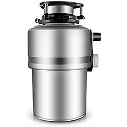 Broyeur de déchets Alimentaires,en Acier Inoxydable Facile à Installer,Cuisine évier Silencieux,33 * 18cm,4000 RPM,220V