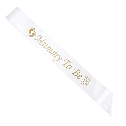 Baby Dusche sash- Mummy/Nanny die Party Satin Dekoration Mutterschaft Geschenk für Weiss Mummy To Be -