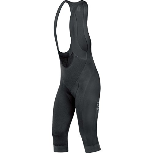 GORE BIKE WEAR POWER 3/4+   CULOTE CON TIRANTES PARA HOMBRE  COLOR NEGRO  TALLA M