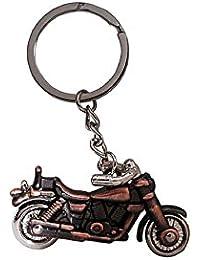 Gratitude Royal Enfield Bike Key Chain, Material - Metal, Color - Bronze