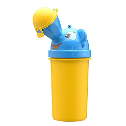 YMCHE Auslaufsicheres tragbares Töpfchen für Jungen, Urinflasche, Hohe Kapazität, Notfalltoilette, Reisetöpfchen für Reisen gelb