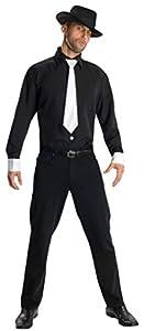 Disfraz de gángster para hombre, camisa y accesorios, Talla única adulto (Rubie