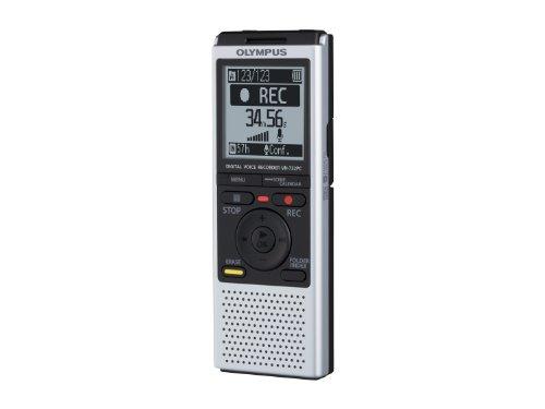 Olympus VN-732PC Registratore Vocale Digitale, Serie VN-PC, 71 gr, Memoria integrata 4 GB, slot microSD/microSDHC, Silver