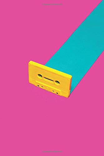 Retro Cassette Tape Notebook: 90s Nostalgia Fluoro Pop Art | 120-Page Lined Journal: Volume 1 (Born in the 80s)