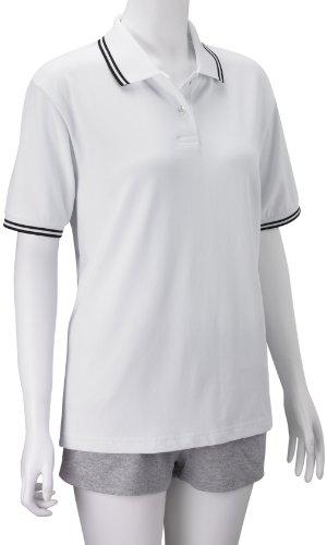 Lyle & Scott LDS Polo à bordure contrastée pour femme Blanc - blanc