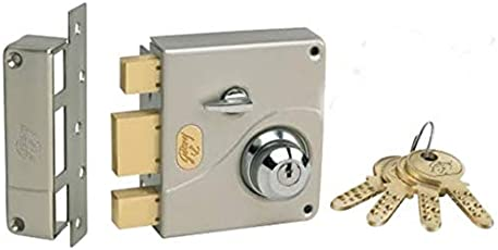 Godrej Locks 18/8 Steel 1 CK Ultra Tribolt Deadbolt,Standard Size,(8128, Satin Nickel)