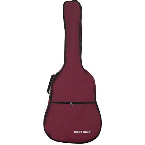 aliyes Class Gitarre Tasche voller Größe Metall Reißverschlüsse Tragetasche 104,1cm wasserabweisend Oxford Stoff 6mm Dicke Schwamm gepolsterte Verstellbarer Gurt rot