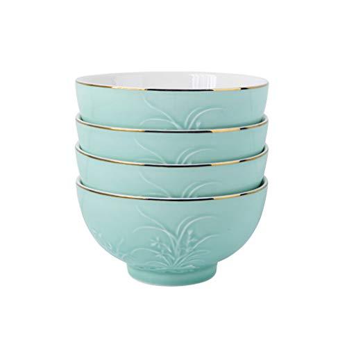 Porzellan Schüssel Home Chinesische Longquan Glasur Geschirr 4 Stücke Palace Porzellan Reisnudeln Salatschüssel,5Inch
