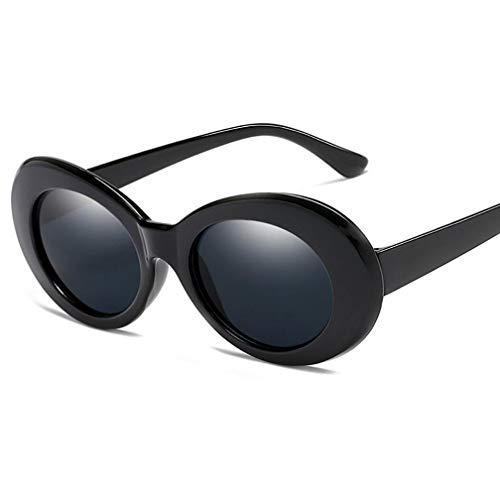 Polarisierte Sonnenbrillen für Damen, Sonnenbrillen Damen Horn umrandet Klassische Retro Vintage Style Sonnenbrillen Voller UV400 Schutz,C