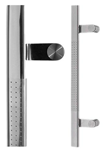 Haustürgriff Stoßgriff BiColor Edelstahl fein matt/ poliert Modell 16 Grifflänge: 600mm