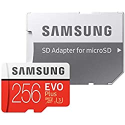 Samsung EVO Plus Scheda MicroSD da 256 GB, UHS-I, Classe U3, fino a 100 MB/s di Lettura, 90 MB/s di Scrittura, Adattatore SD Incluso [Vecchio Modello]