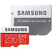 Samsung EVO Plus 256 GB microSDXC UHS-I U3 Memory Card with Adapter