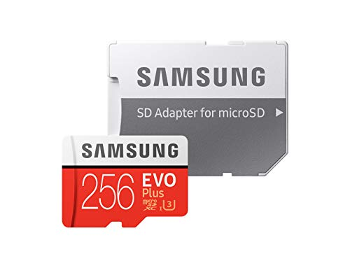 Samsung EVO Plus Class 10 U3 256GB UHS-I microSDXC with Adapter(MB-MC256GA/EU) Read and write up to 100MB/s and 90MB/s