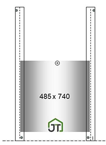 JOSTechnik Klappe Schieber XXL 485 x 740 mm für automatischen Klappensteller