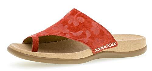Gabor 23.700 Damen ClogsPantoletten,Clogs&Pantoletten, Frauen,Pantolette,Hausschuh,Pantoffel,Slipper,Slides,Best Fitting,rot,36 EU - Leuchtend Rotes Leder