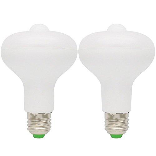 2X 9W E27 Warmweiß Licht PIR Bewegungsmelder LED Birne lampe für Treppe, Garten, Flur, Hof