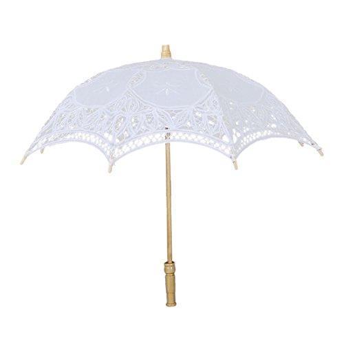 Spitze Sonnenschirm - SODIAL(R) Regenschirm Schirm Victorian Spitze Sonnenschirm Hochzeit Braut...
