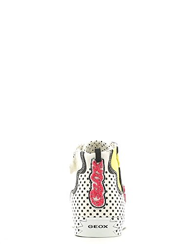 Geox Jr Ciak A, Sneakers Hautes fille Blanc