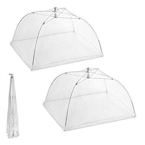 Amoyer set di 2 grande schermo pop-up mesh copertura dell'ombrello food net tende riutilizzabile e pieghevole 16