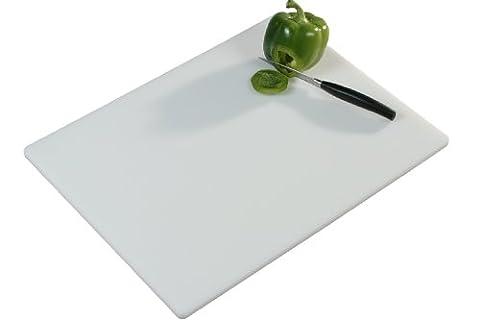 Kesper 30051 Planche à découper en plastique 51 x 38 x 1.2 cm Blanc
