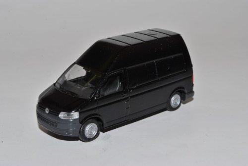 Rietze Volkwagen T5 GP Schwarz Transporter Kasten Hochdach Facelift Ab 2009 H0 1/87 Modell Auto mit individiuellem Wunschkennzeichen -