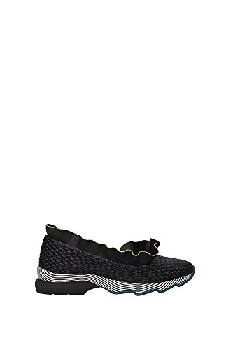 8F632682F04LX-Fendi-Sneakers-Women-Fabric-Black