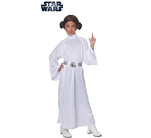 Kostüm Leia Prinzessin Kind Deluxe - Star Wars Prinzessin Leia Deluxe Kostüm für Kinder, Größe:L-140cm