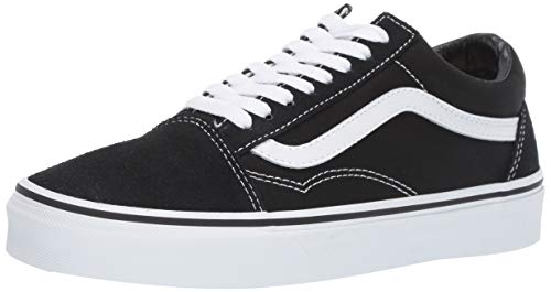 Vans Old Skool Leather Sneaker Unisex Adulto, Nero (Black/White), 38.5