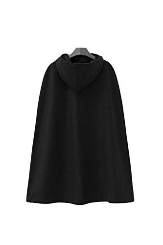 La Femme Automne - Hiver Élégant À Capuchon Extérieur De La Tenue De Maxi Manteau Trenchcoat Black