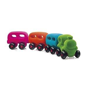 Rubbabu-Juegos de construcción-Tren con 3Wagons magnéticos, r20305