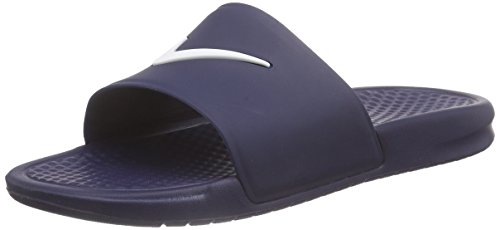Nike - Benassi Shower Slide, Infradito uomo, color Blu (Midnight Navy/White 410), talla 44