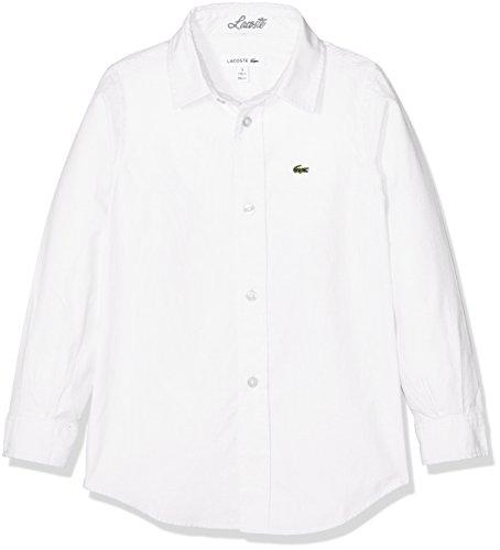 Lacoste Cj2907 Camicia Bambino Bianco 10 Anni