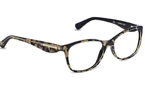 Dolce & Gabbana Women's 3174 Gold Leaf Gold Leaf / Black Frame Plastic Eyeglasses, 54mm