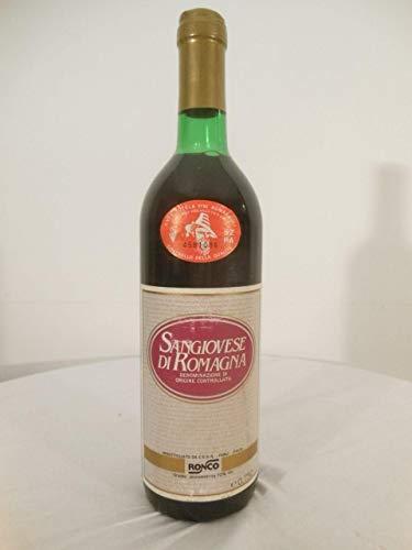 ronco rouge 1986 - sangiovese di romagna Italie: une bouteille de vin.