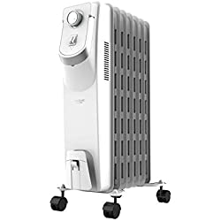 Cecotec Radiador de Aceite Ready Warm 5750 Space 360º. 7 Módulos, Bajo Consumo, Termostato Regulable, 3 Niveles de Potencia, Sistema Antivuelco, Fácil Transporte, Tecnología Space, 1500 W