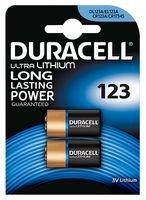 DURACELL 7035773 Ultra Lithium 123 Batterie 3V PK2 Duracell 123 Lithium-batterie