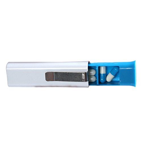Preisvergleich Produktbild rosenice Pillenbox von Reise tragbar Kunststoff mit Clips