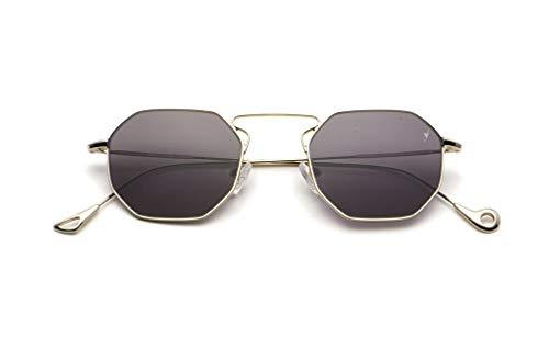 Eyepetizer occhiali da sole unisex modello odeon colore asta argento e lente grigio