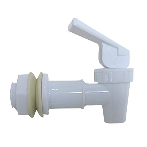Lifemaison Ersatz Vorstoss Typ Kunststoff Plastik Wasserhahn Hahn für Wasserspender Zapfhahn Auslaufhahn Getränkespender (weiß) (Wasserspender Wasserhahn Kunststoff)