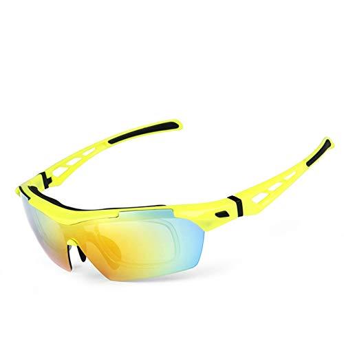 Lafeil Sportbrille Damen Damen Herren Polarisierte Sonnenbrillen Reitbrillen Outdoor Männer Und Frauen Sport Sandproof Goggles Gelb