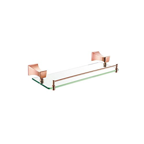QUEEN'S Kupfer Single Layer Glasböden Titanium Gold 520 Lange 12511E Base accessoires badezimmer 520*150*60mm