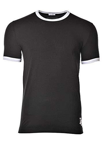 Dolce & Gabbana Herren T-Shirt, Underwear, Girocollo, Rundhals, Uni - Schwarz: Größe: M (Gr. Medium)