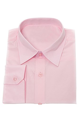 MGT-Shop Jungen festliches Kinderhemd Jungenhemd Taufhemd Konfirmationshemd Kommunionshemd langarm H10 (134)