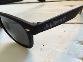 Preisvergleich Produktbild Jack Daniels no 7 Big Boss Sonnenbrille in Matt Schwarz und Wayfarer Style -One Size_ UV 400