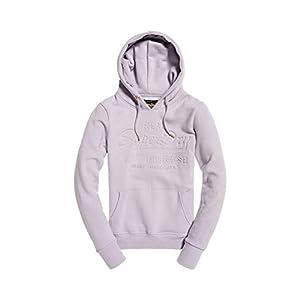Superdry Damen V Logo Pastel Deboss Entry Hood Kapuzenpullover