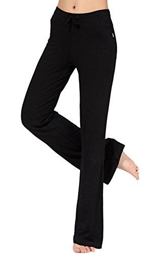 Scothen Super doux Modal Spandex Yoga Pilates Pantalons Yoga Pant 14 couleurs sarouel bloomers pantalon harem doux Yoga Modal Pantalons stretch Sport Aladdin confortable Salle gym pour femmes Noir