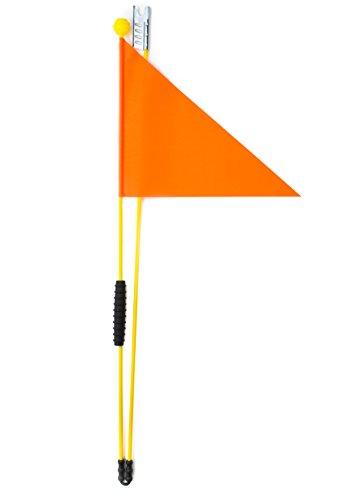Cycley Premium Bike Fashion–Banderín de seguridad para bicicleta infantil plegable banderín Barra de seguridad con una altura de 160cm, naranja fluorescente, 160 cm