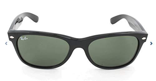 Ray Ban Unisex Sonnenbrille New Wayfarer, Schwarz (Black Frame/Green)