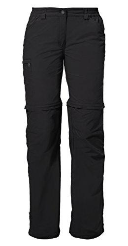 VAUDE Damen Hose Farley Zip Off Pants IV, Black,36/XS (kurz), 3873