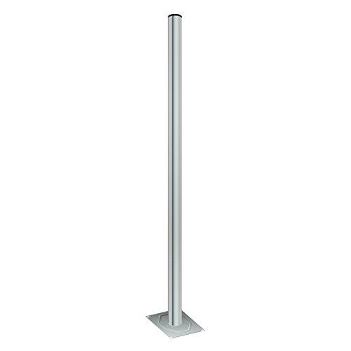 HB Digital Standfuß (Balkonständer) aus Stahl 100cm 1m Länge und 38mm Breite für SAT-Anlagen Sat Spiegel Schüssel Balkonständer Standfuss Mastfuß